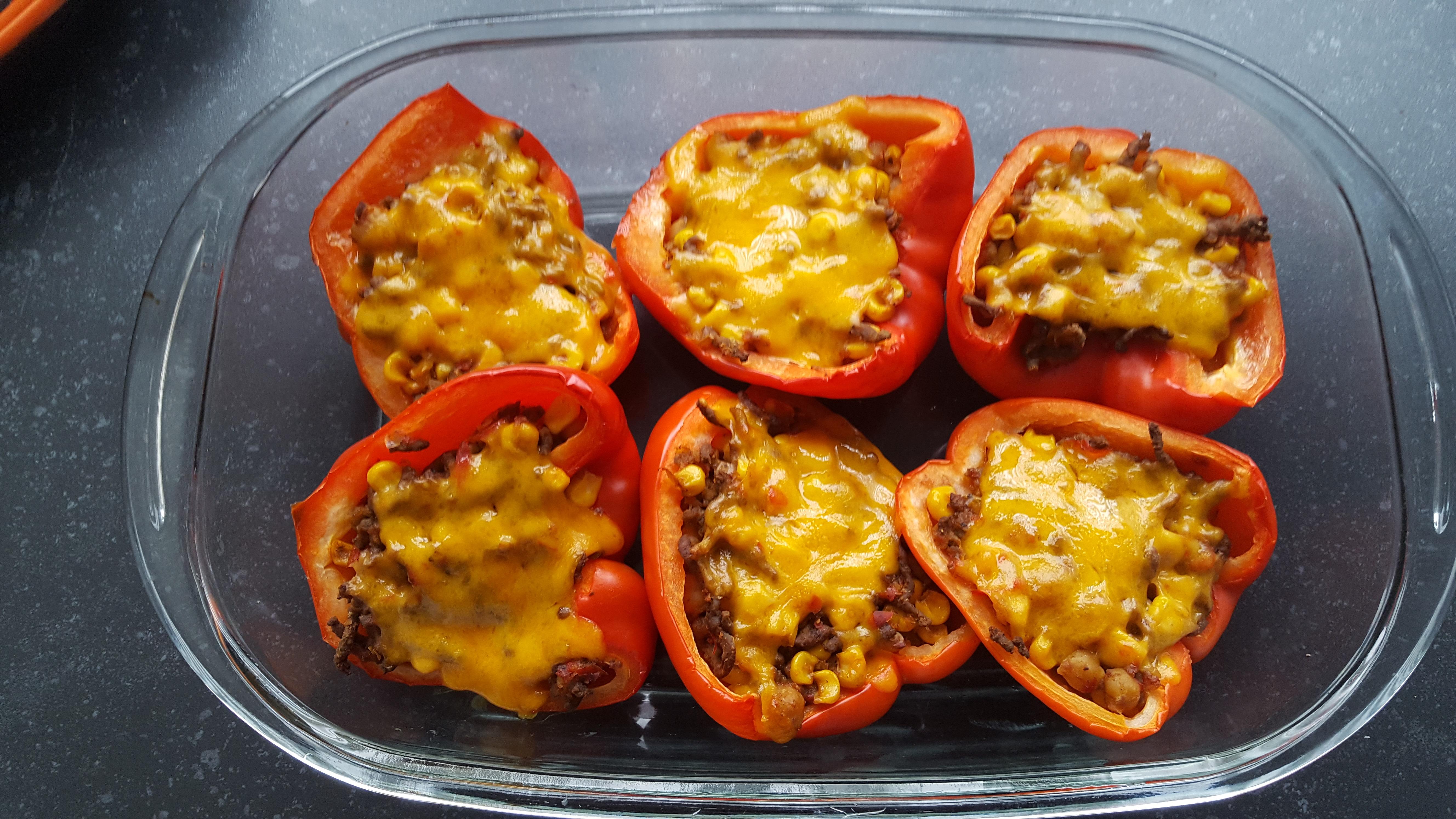 Gevulde paprika's (BBQ tip!) Burgertrutjes