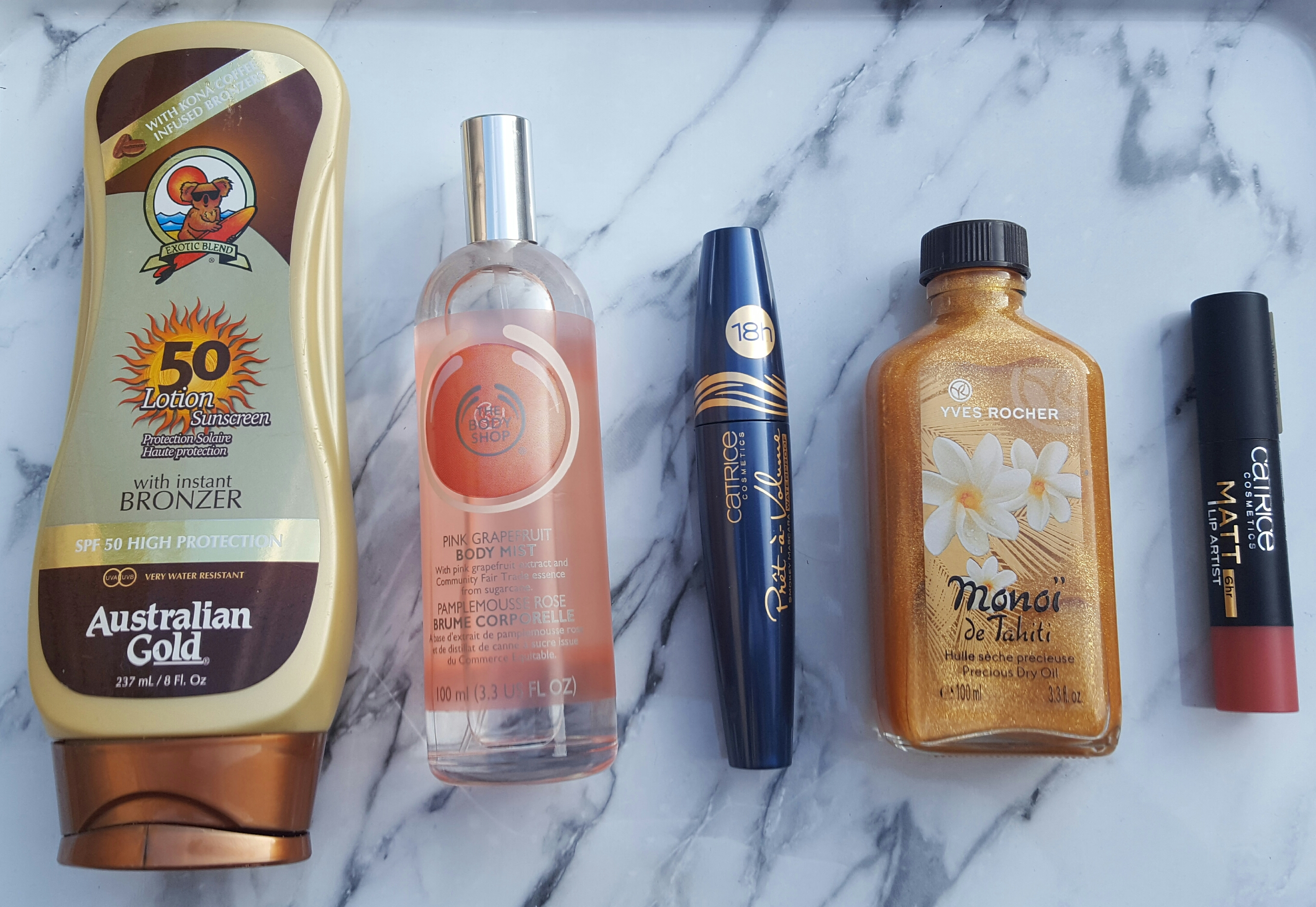 Favoriete producten Australian Gold Yves Rocher Catrice The Body Shop