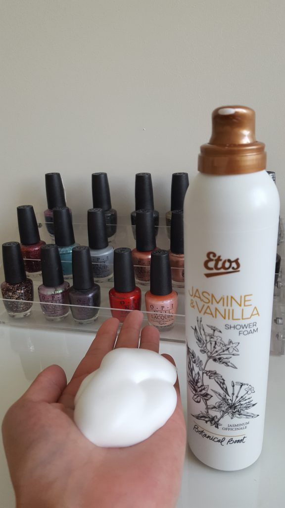 review etos shower foam botanical boost burgertrutjes
