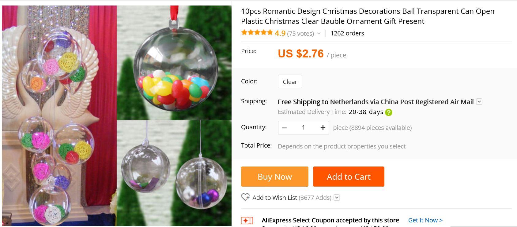 kerstballen transparant aliexpress