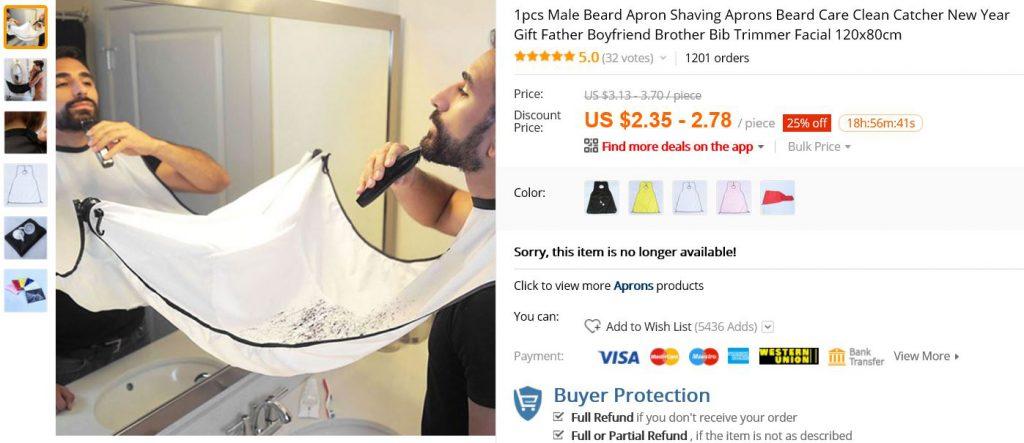 shoplog aliexpress oplossing tegen baardhaar