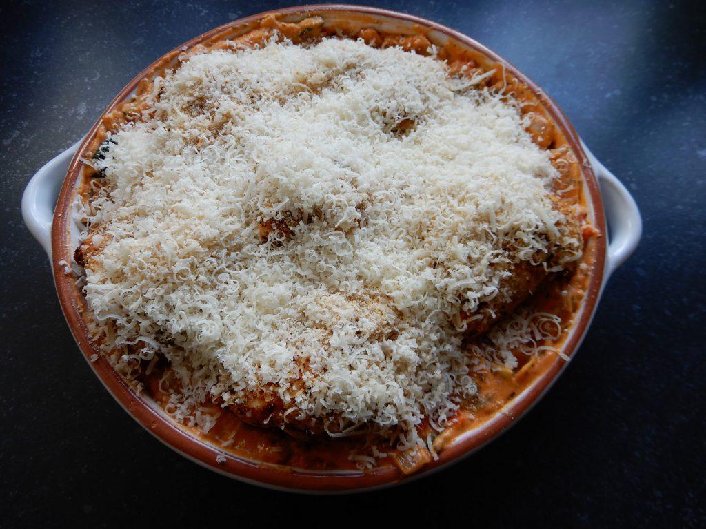 lasagne met kip roomsaus en parmezaanse kaas zonder pakjes en zakjes recept