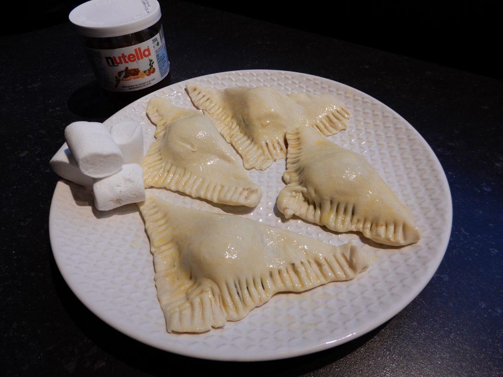 bladerdeeghapjes met Nutella en marshmallows recept BurgertrutjesNL