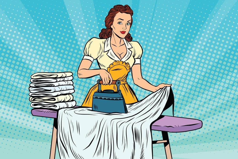 Tijd besparen in het huishouden. TIps om te strijken. strijkvrije overhemden