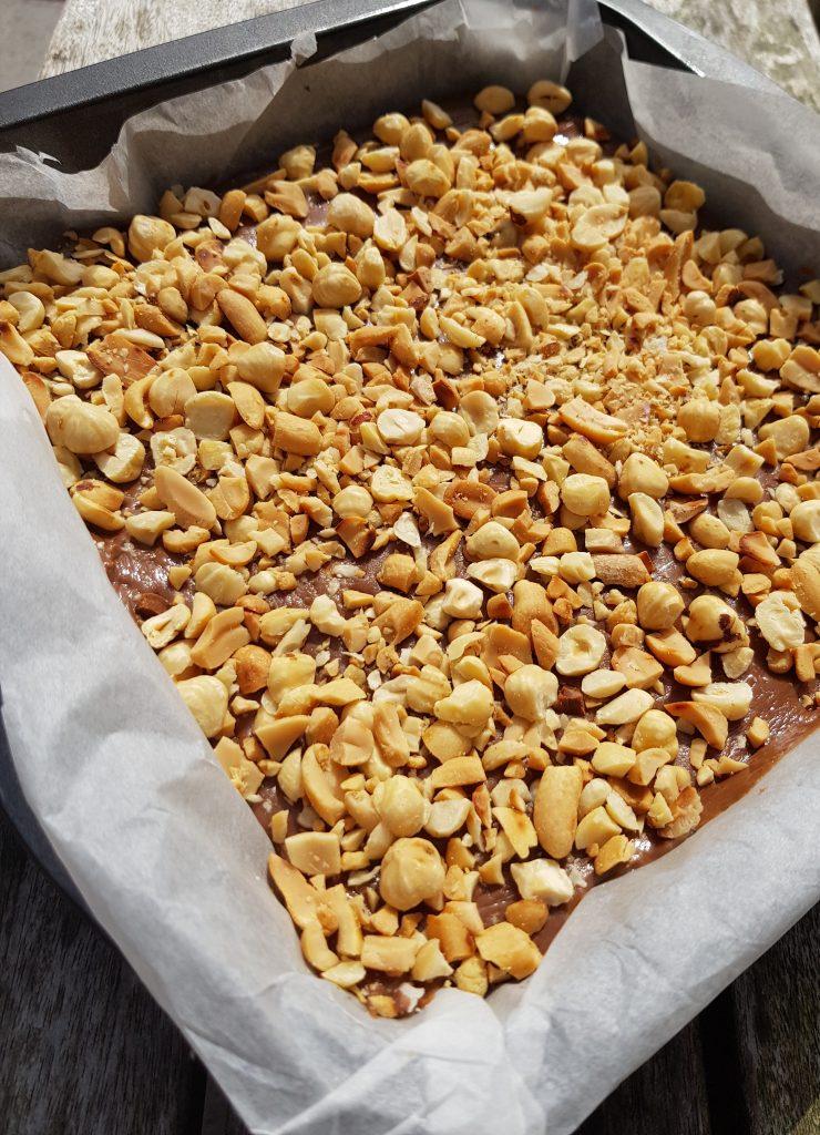 Snickers fudge recept, comfort food, fudge, burgertrutjesNL
