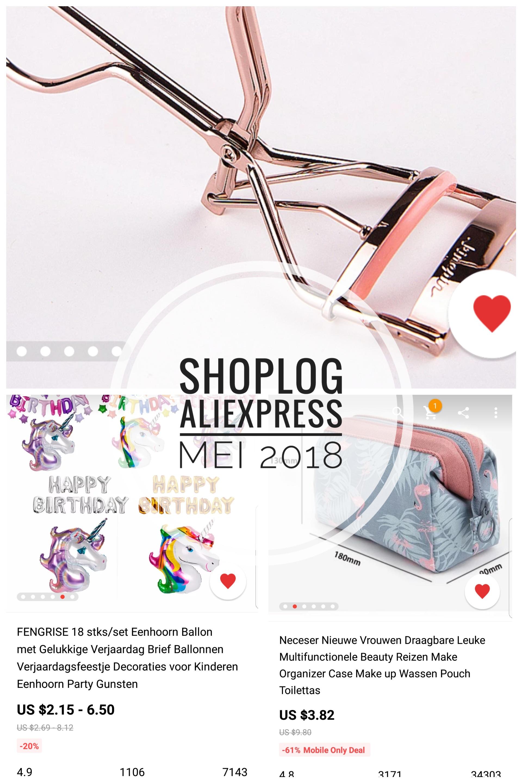 aliexpress shoplog mei 2018, favoriete producten aliexpress burgertrutjes.nl