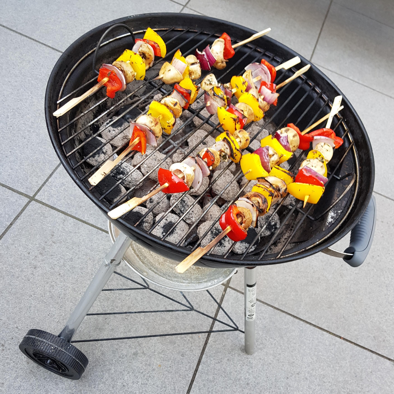 Recept groentespiesjes op de barbecue burgertrutjes