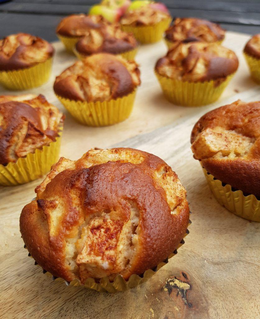 Recept appel yoghurt muffins zonder pakjes en zakjes
