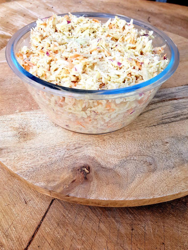 Recept zelfgemaakte coleslaw, koolsla