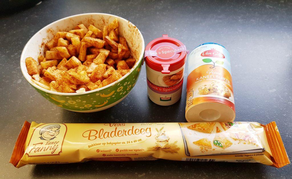 Recept appeltaartjes met bladerdeeg en slagroom