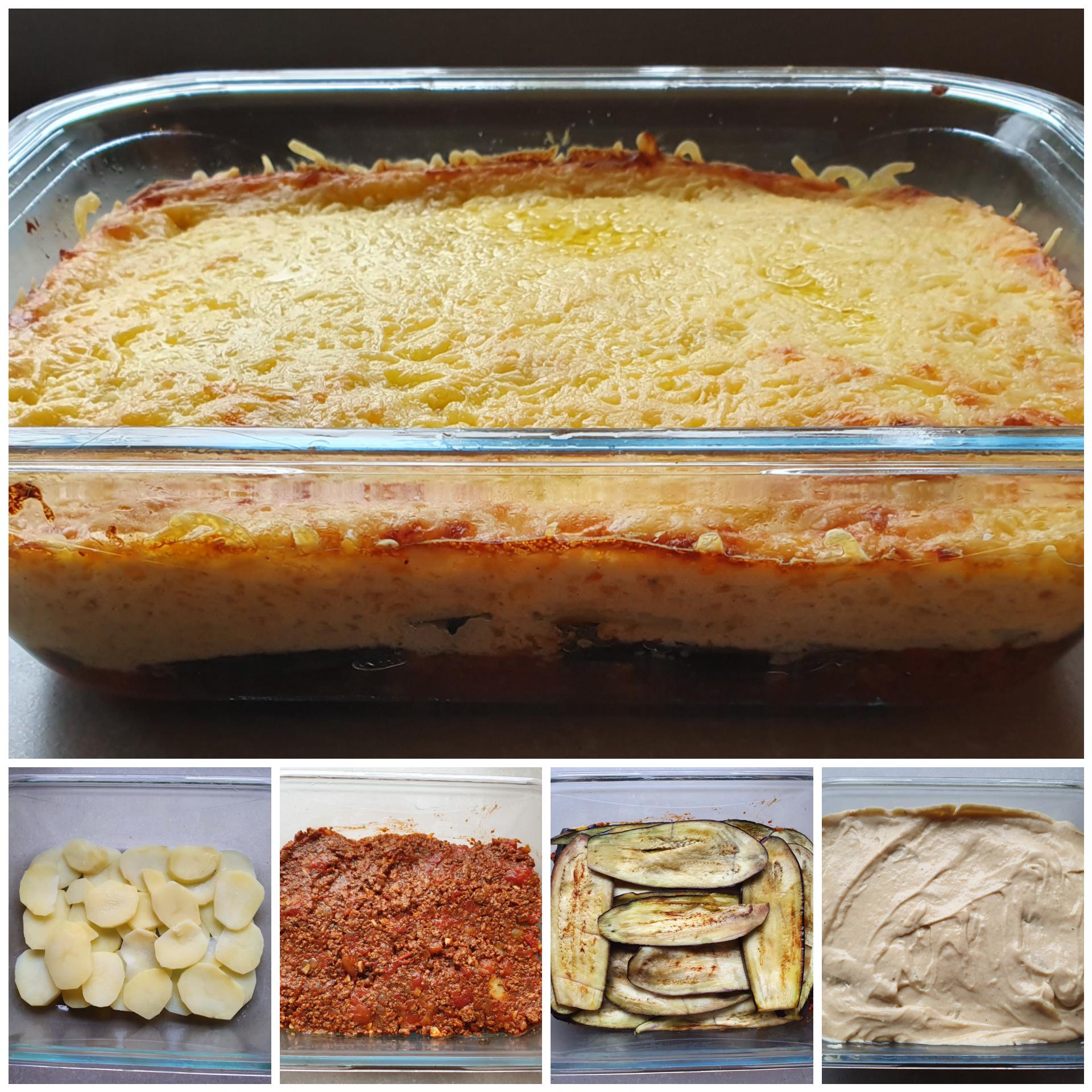 Griekse moussaka, zonder pakjes, recept, traditioneel