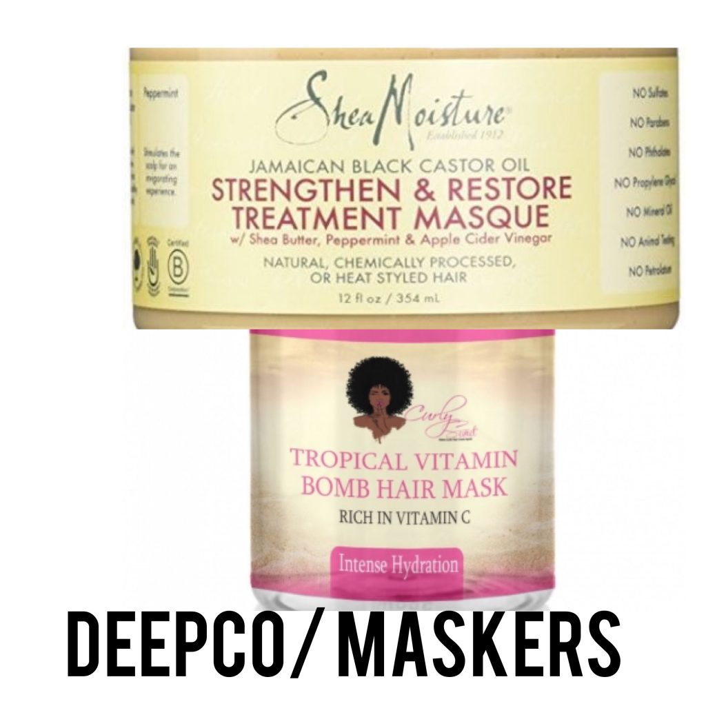 Curly girl methode maskers
