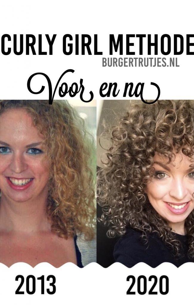 curly girl methode voor en na